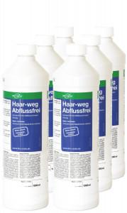 6 x 1 Liter Flasche Haar-Weg Abflussfrei