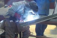 Schweißvorgang Stahlträger