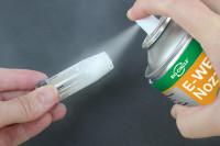 E-WELD Nozzle wird auf Schweißdüse aufgesprüht