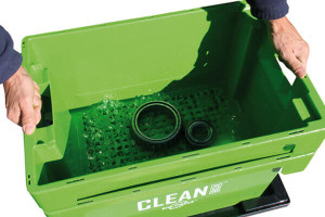 Clean Box with lid, immersion basket, trolley