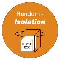 All-round insulation of the complete body
