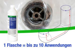 1 Flasche = bis zu 10 Anwendungen